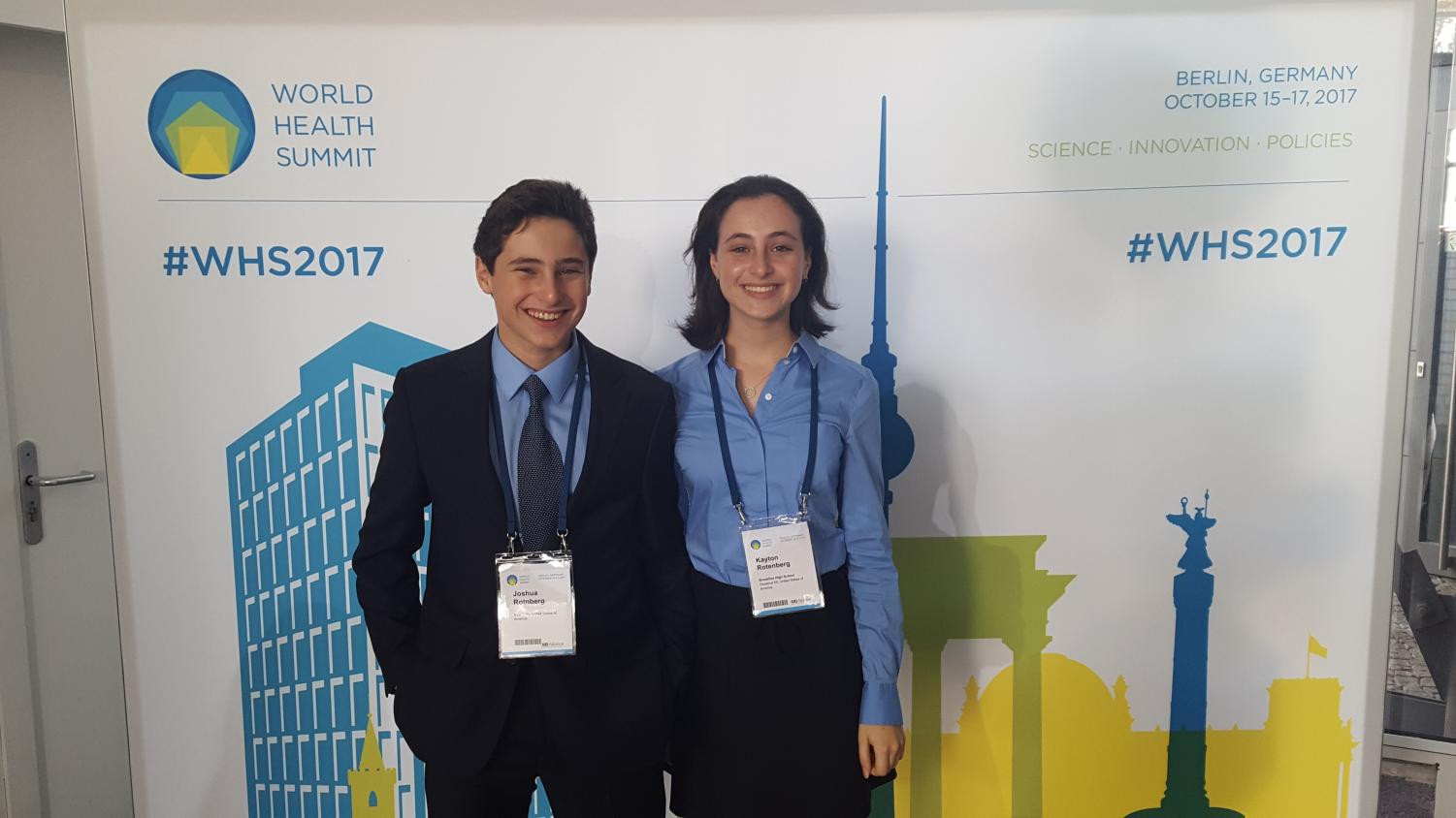 Juniors Josh and Kayton Rotenberg were participants in the high school's trip to Berlin last October for the World Health Summit. This was just one of many trips the Global Leadership program runs.