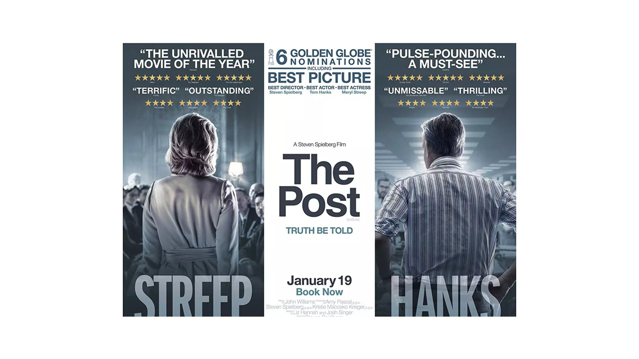The Post, directed by Steven Spielberg, premiered on Jan 12. 2018. Set in the 1970s, the thriller tells the story of the first female newspaper publisher, Katherine Graham.