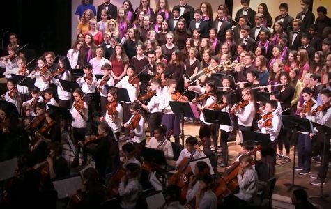 The choruses of all the Brookline Public Schools perform