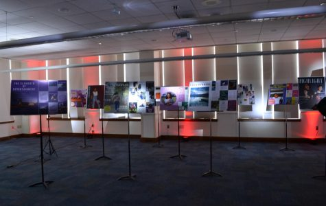 Fifteen students' magazine projects were showcased  in the MLK room.
