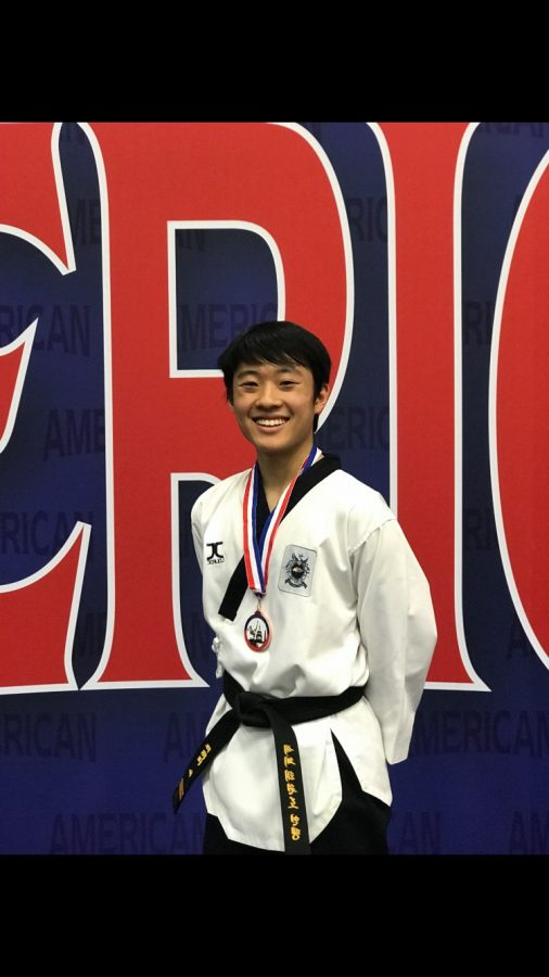 Suh won bronze at the 2018 NCTA High School Championships where he competed in poomsae.