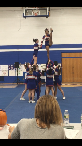 Cheerleading team prepares for upcoming competition season