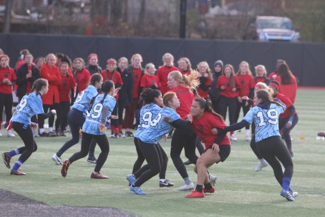 Blue takes 2018 Powderpuff title after a fantastic pep rally