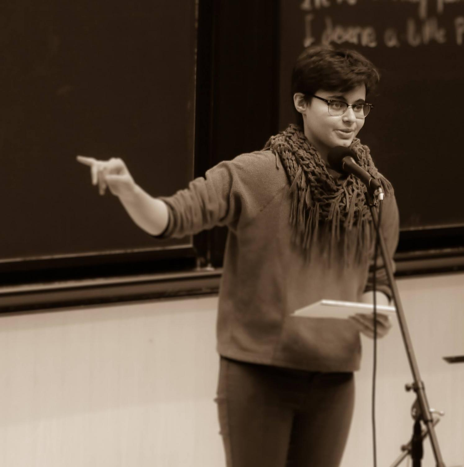 Junior Naomi Mirny is an active member of the Slam Poetry Club. She also expresses herself through visual art, acting and more.