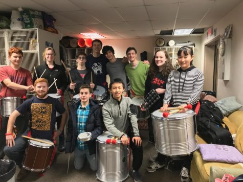 The Samba Drumming club bonds over their love of rhythm
