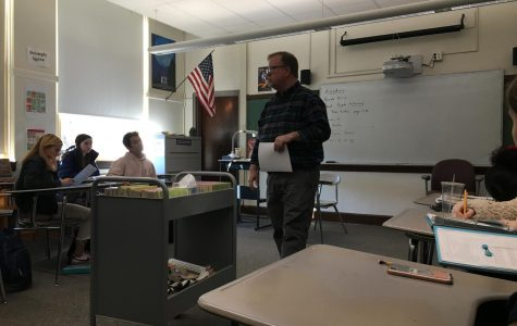 English teacher John Andrews teaches both mainstream and SWS English classes. His ability to teach both provides enriching lessons for his classes.