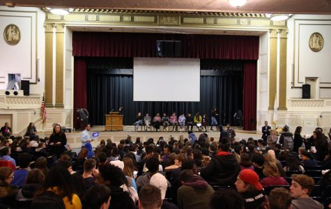 The assembly filled with students and staff eagerly awaiting student speaches during the Telling Your Story assembly A-block. Asking for Courage held the entire high school's attention on Tuesday, Dec. 11.