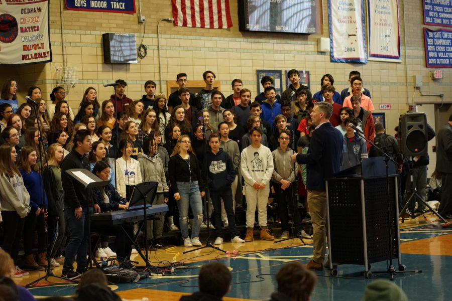 The+choir+begins+the+assembly+with+a+performance+of+%22Lift+Every+Voice+and+Sing.%22+NICK+EDDINGER+%2F+SAGAMORE+STAFF
