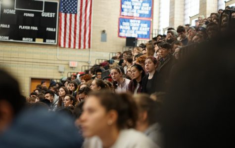 Students listen intently to the speakers at the Martin Luther King Jr. Day assembly held on  Jan.17.
