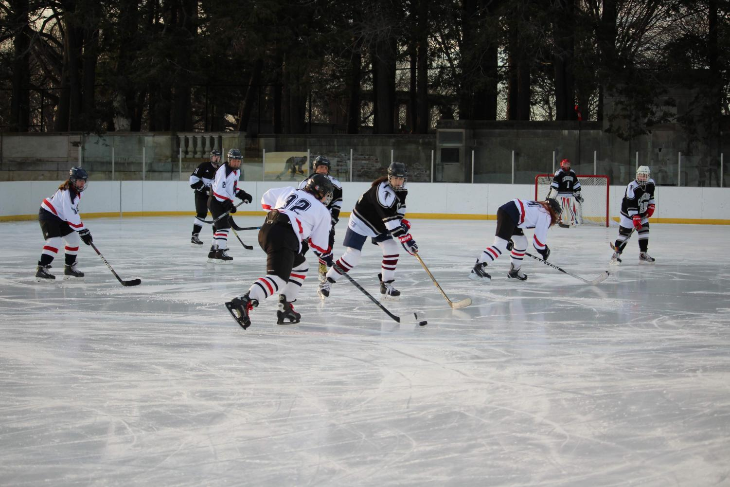 The girls junior varsity team plays Cambridge Rindge and Latin High School at Larz Anderson Park. The Warriors won the game with a final score of 9-5.