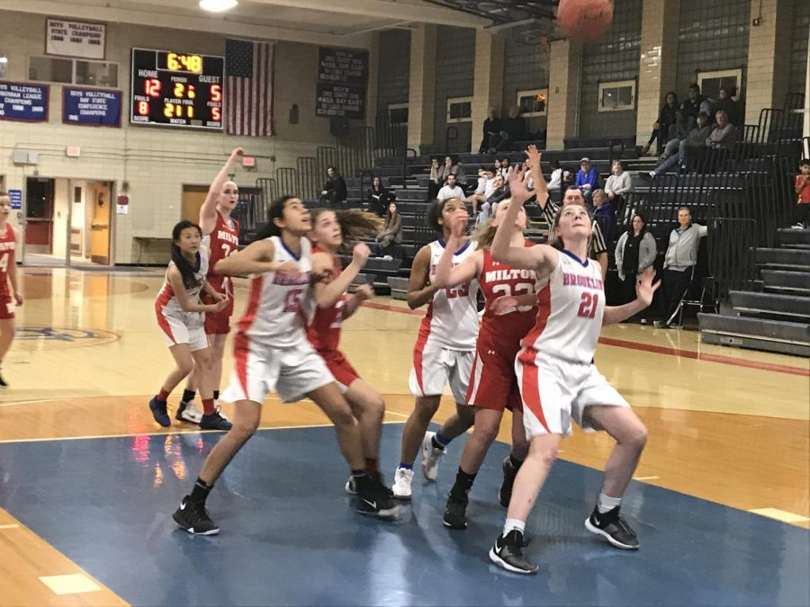 The girls varsity basketball team beat Milton High School with a score of 37-29 on Feb. 5. According to junior Bailey Cohen, the team has worked especially hard this year.