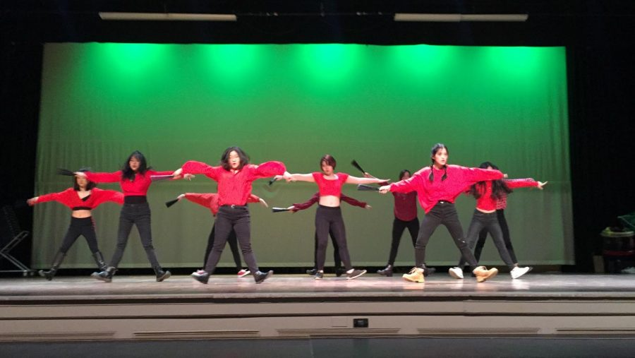The Popcorn Dance Club performs during the Lunar New Year celebration.