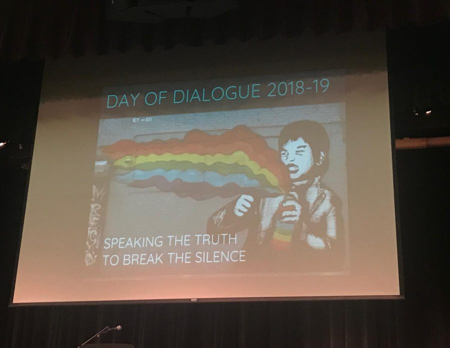 During the B-block assembly, students and teachers shared their experience of being a part of the LGBTQ+ community