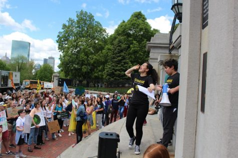 Students assemble in Boston climate strike