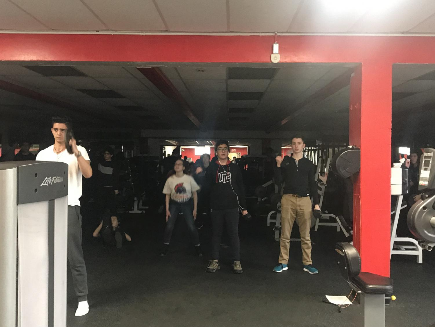 Students participate in a variety of different exercises during Revolution Class. According to junior Zach Fischer, the health class wakes him up in the morning and gives him energy.