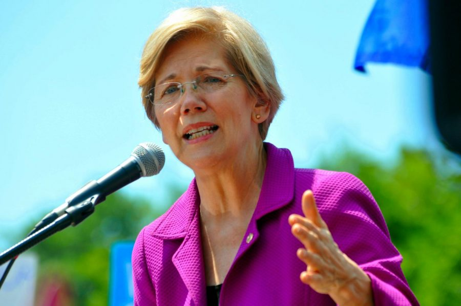 Massachusetts Senator Elizabeth Warren plans to support America's growing middle class, increase taxation on the wealthiest Americans and eliminate corruption in Washington.