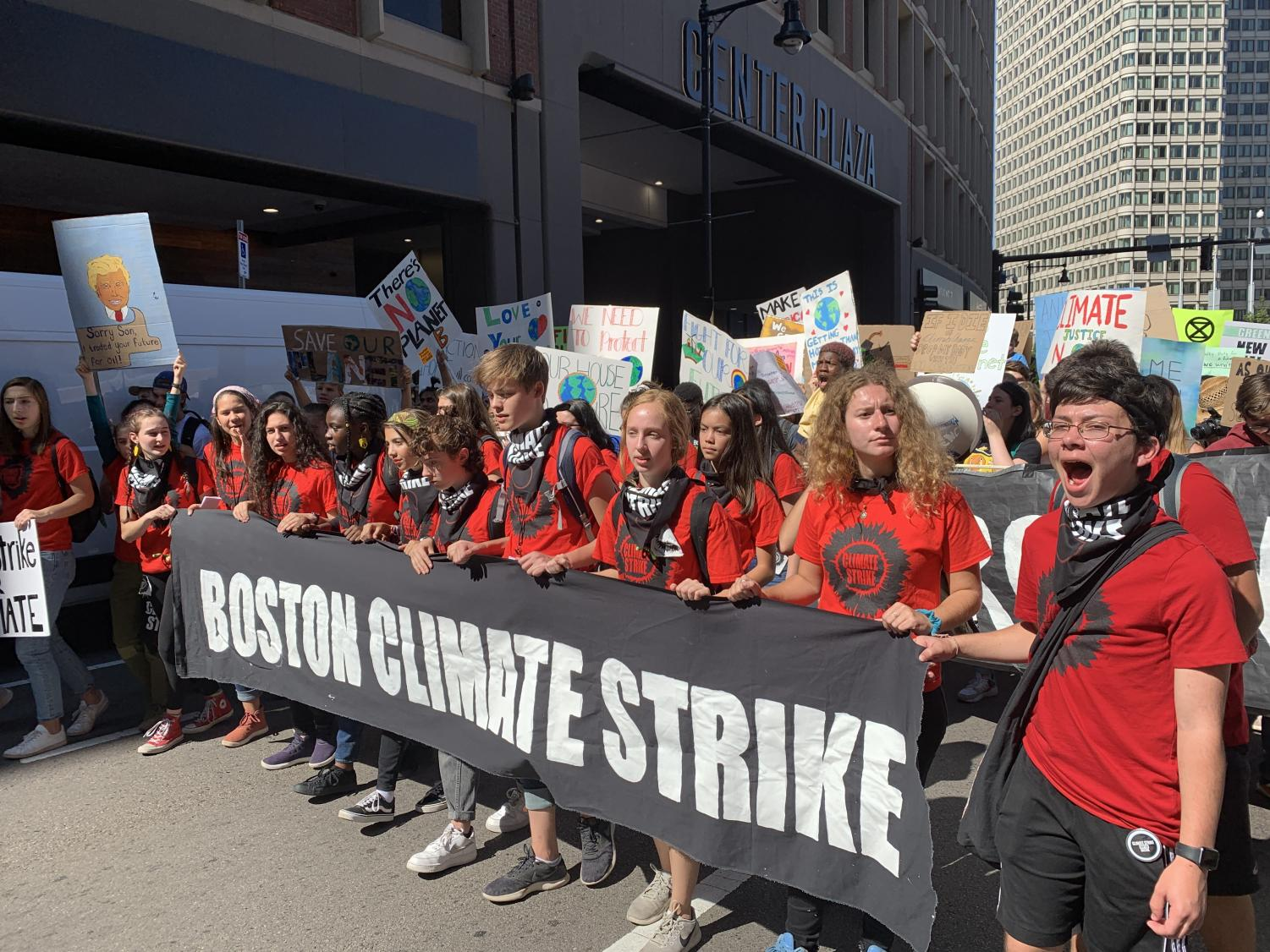 Students marched on Sept. 20 in Boston for environmental justice, calling for elected officials to take comprehensive and drastic actions on the climate crisis.