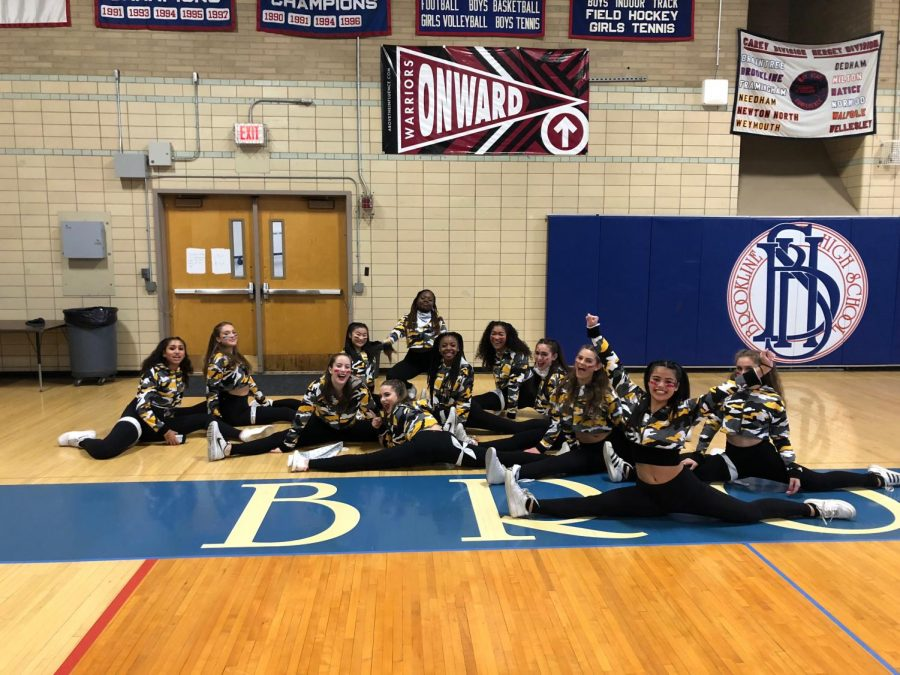 Dance ensemble Cantico practices for their annual pep rally performance in the Schluntz Gymnasium. The club performs both contemporary and hip-hop styles.