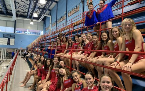 Girls swim and dive team triumphs over Framingham