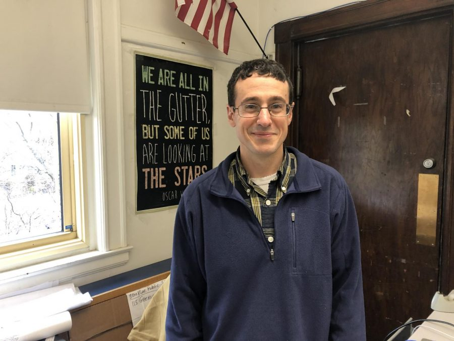 BEN BERMAN, ENGLISH TEACHER. It's not every day that you get to share an office with your mortal frienemy, but for two long years Dave Mitchell and I sat across from one another in 339. It wasn't always easy. There were days when I'd come back from class and find all the items on my desk rearranged into a chaotic mess or the desk itself redecorated with ancient tapestries that I couldn't remove because he'd nailed them into the wood. And then there was the giant