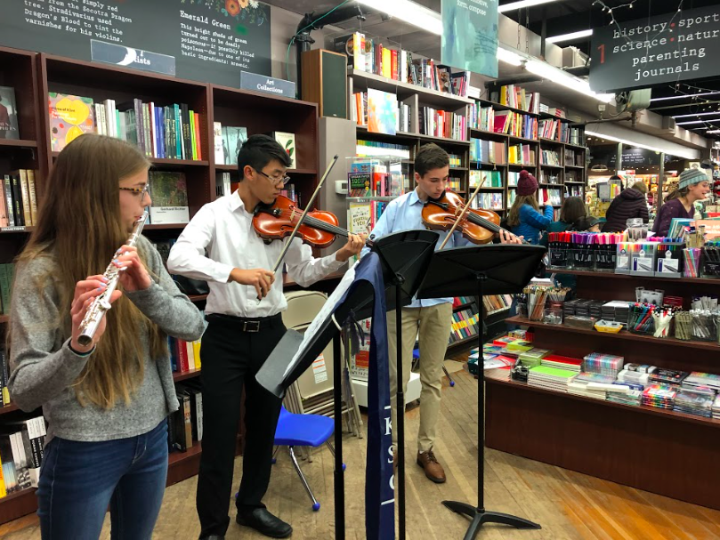 Student+musicians+perform+at+the+Brookline+Booksmith+as+part+of+the+First+Light+celebrations.+