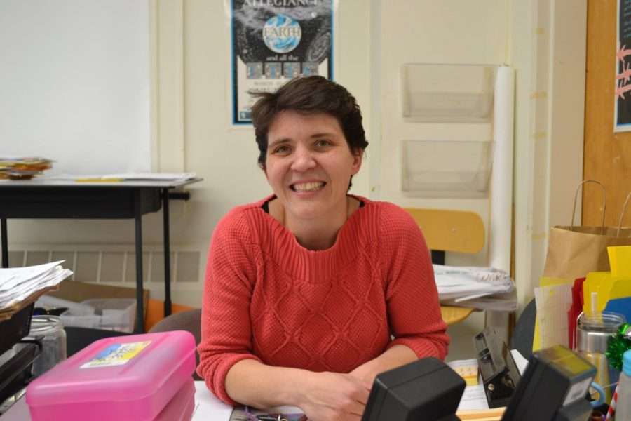 Even with her busy class schedule, social studies teacher Kate Leslie makes it a priority to connect with her students and organize events like Day of Dialogue.