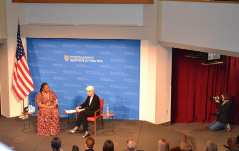 The main portion of the night was a conversation with Tarana Burke, founder of the Me Too movement, moderated by Ambassador Wendy Sherman.