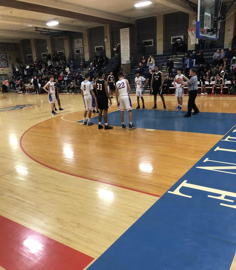 Boys varsity basketball suffers a tough loss during senior game