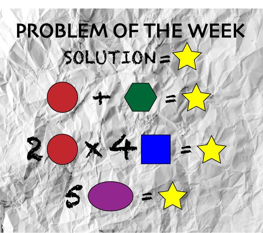Students can solve Problems of the Week in multiple ways.