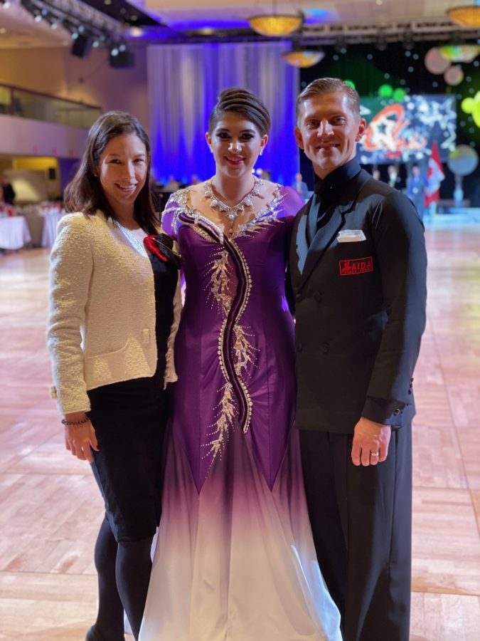 Ani Grieco ballroom dances with her coach and dance partner Nazar Batih. Dancing has allowed her to explore a new side of herself and become more self-confident