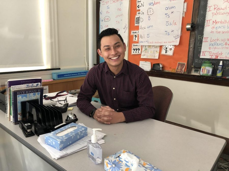 In addition to teaching Latin and Spanish at the high school, Lennon Audrain is pursuing a Master of Education degree in Technology Innovation and Education at Harvard.