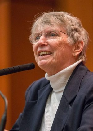 Author Lois Lowry, pictured above speaking in 2014, is a world renown author.  To get inspiration for her writing, Lowry examines small moments of her past that, while at the time seemed inconsequential, over the course of her life have proven to have changed her in some way.