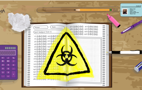 Due to the COVID-19 pandemic, social distancing guidelines have made it impossible for students to take the SAT and MCAS exams.