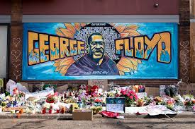 Residents honored the life of George Floyd with a mural in Minneapolis, the city where Floyd lived and was murdered.