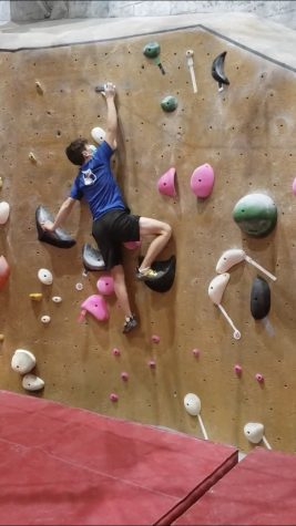 Rock climbing requires both physical strength and quick problem solving