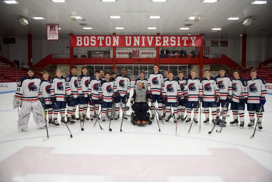 Travis Roy has made a profound impact on the lives of many hockey players and those with spinal cord injuries. He is honored within the BHS hockey community.