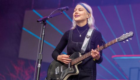 "Indie musician Phoebe Bridgers in a concert. Bridgers released her latest EP, ""Copycat Killers"" in early November."