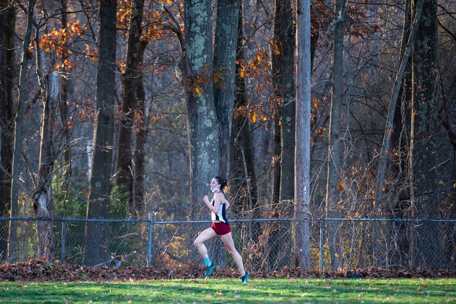 Senior Vivian McMahon has learned the importance of team community and other valuable lessons from cross country.
