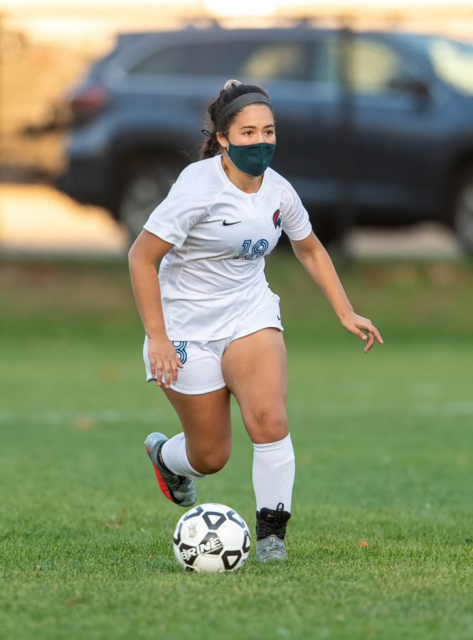 Senior, Mia Pujols Briceno, tried to focus on the positives of the season rather than dwell on the changes caused by COVID-19.