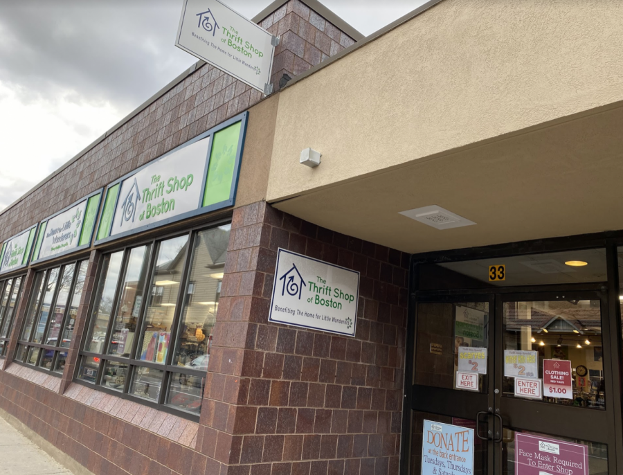 Located+in+Roslindale%2C+Mass.%2C+The+Thrift+Shop+of+Boston+offers+affordable+clothing+and+accessories+to+support+a+beneficial+cause+for+the+local+community.