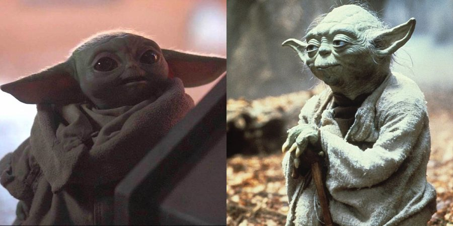Above, Baby Yoda/Grogu is shown on the left, and the original Yoda on the right. Characters and scenery are the some of the best aspects of the shown having intricate and varied designs throughout the season.
