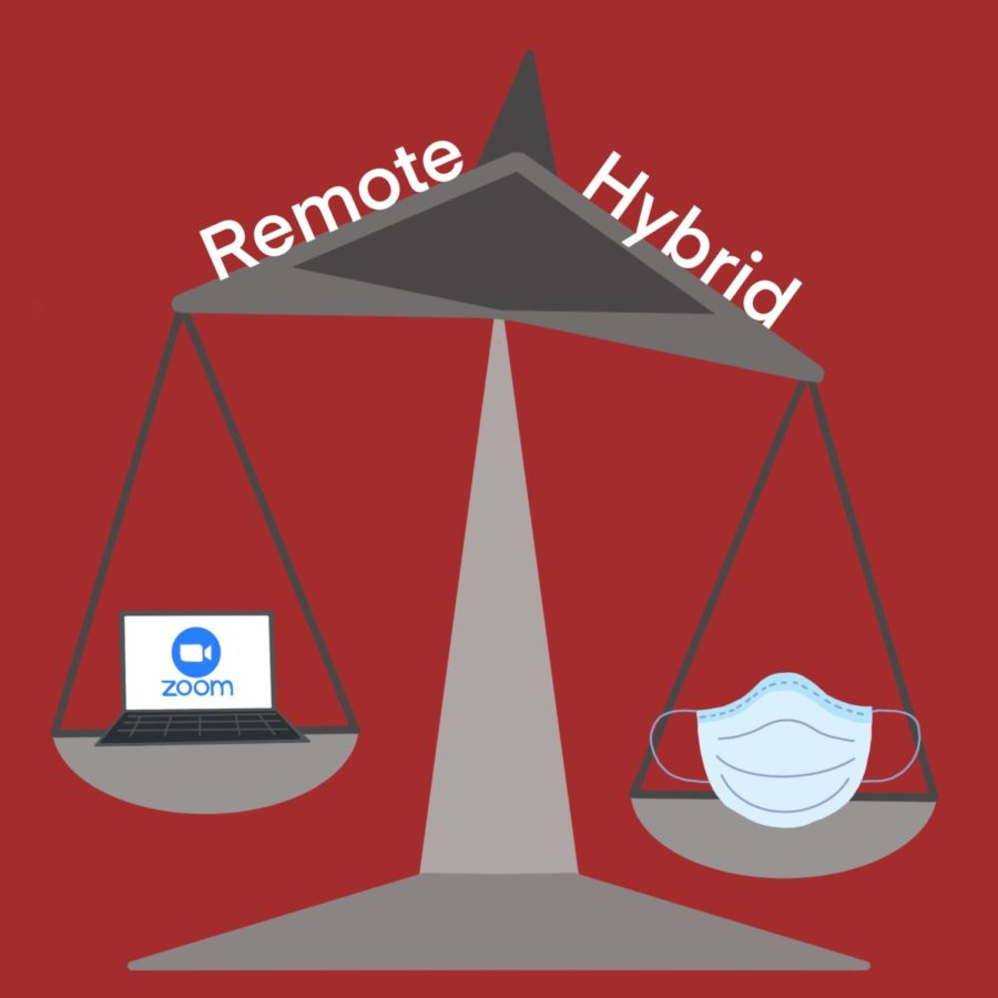 Due to concerns over safety and logistical difficulties, students have made the switch from hybrid to remote learning.