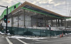 The new BHS wing in construction. The November 17 budget expansion prevented taxpayers from covering extra construction costs.