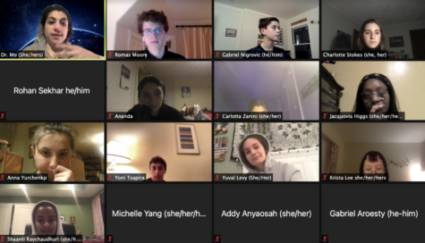The Brookline High School Speech and Debate Club meets via Zoom every Wednesday evening to prepare for upcoming tournaments and events