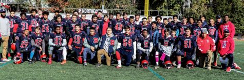 Brookline High Football team poses for a picture fall 2019