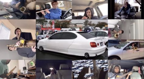 """In the original piece, """"This Car Drives Me Up the Wall, The Music Collective compiled clips of each performer into a creative music video."""