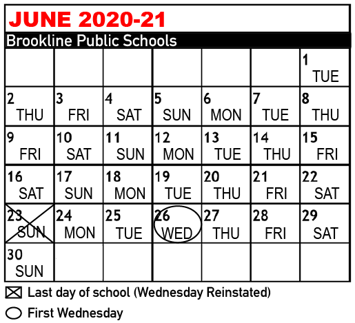 Changed schedule for the end of the school year for Freshman, Sophomores and Juniors.