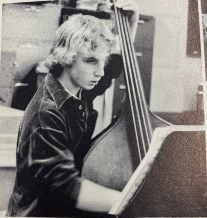 Chemistry teacher Steve Lantos playing the standup bass as a high school student. Lantos graduated BHS in 1980 and returned as a staff member in 1985.