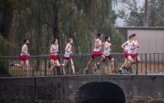 The cross country team participates in meets throughout the year.