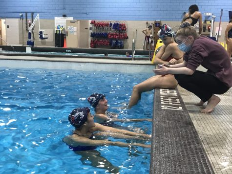 Led by female coaches, girls varsity swimming has been able to achieve success in and out of the pool.